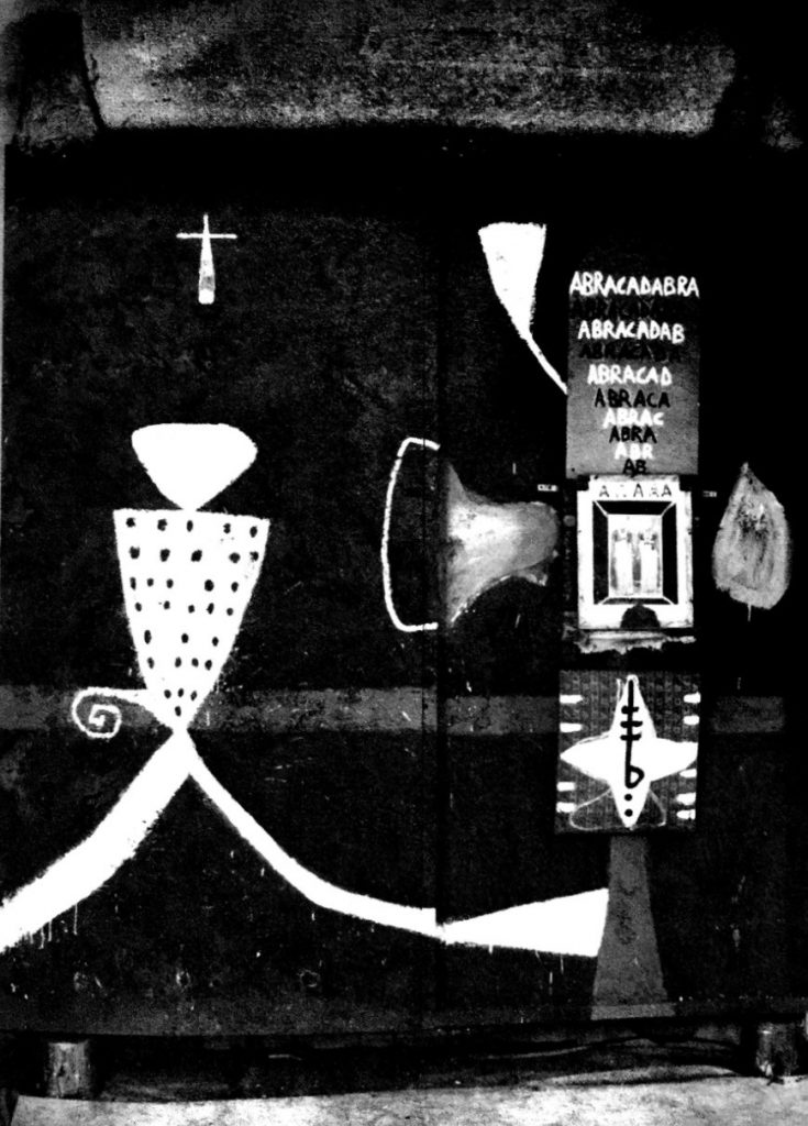Figure 1.3 Quattara Gaia. 1994 Mixed media on wood. University Art Museum, University of California at Berkley. Gift of the artist